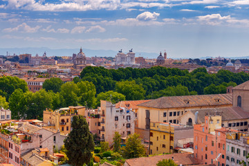 Aluminium Prints European Famous Place Rome. View of the city from the Aventine hill.