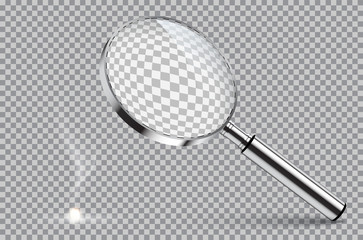 Magnifying glass starting fire. Vector illustration on isolated on transparent background.