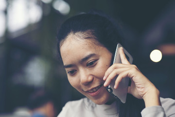business women using smartphone for work