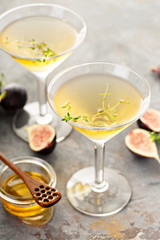 Fall cocktail, fig and honey martini