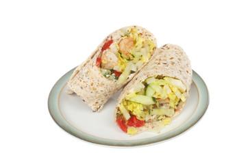 Turkey and salad wraps