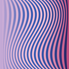 Curved vertical stripes colorful background