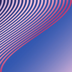 Curved diagonal stripes colorful background