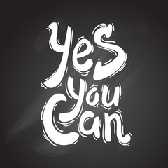 yes you can. hand drawn lettering