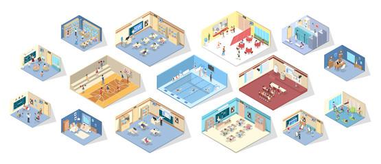 School interior isometric