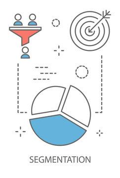 Segmentation concept illustration
