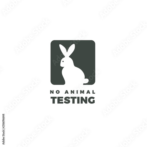 No Animals Testing Icon Design Bunny Icon Design Of Not Tested On