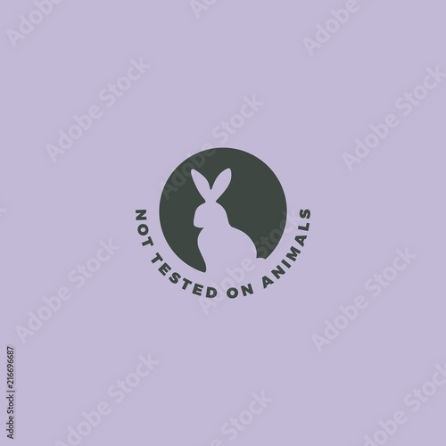 Animal Cruelty Free Symbol Rabbit Icon Can Be Used As A Sticker