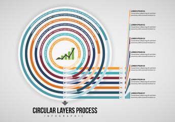 Circular Infographic Layout