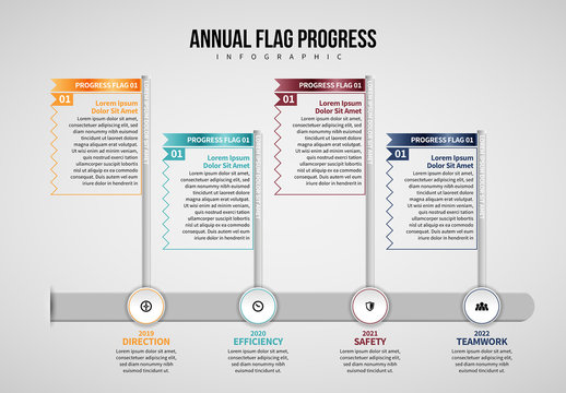 Annual Flag Infographic Layout