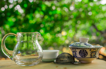tea ceremony in nature