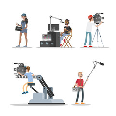 Film studio staff set