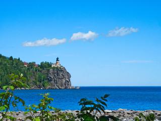 Split Rock Lighthouse on the north shore of Lake Superior near Duluth Minnesota