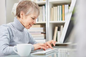 Geschäftsfrau arbeitet am PC