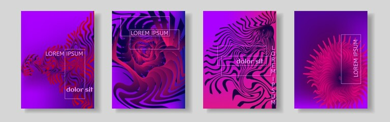 Colorful background, cover.Fashionable gradient form of the composition. Vector