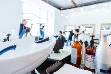 hair washer in hair saloon