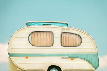 Vintage side of a caravan