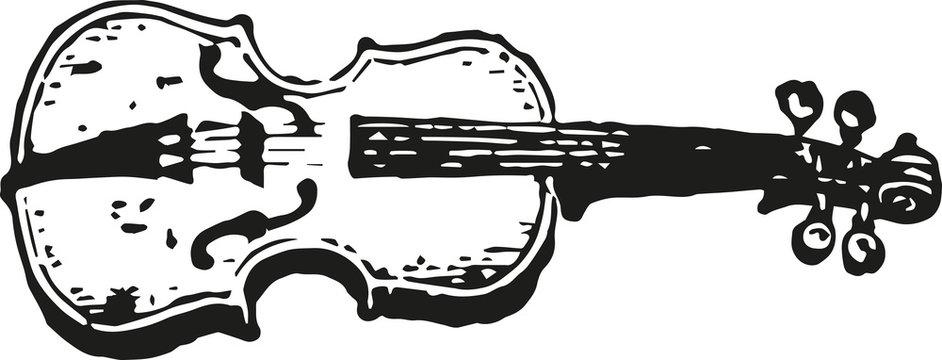 vintage violin icon