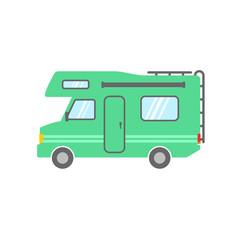 Camper | green vector icon