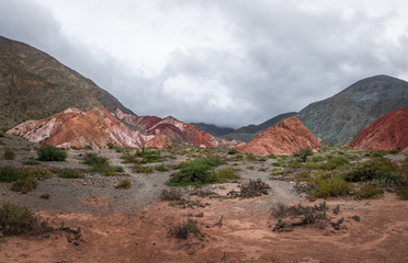 Mountains and landscape of Purmamarca - Purmamarca, Jujuy, Argentina