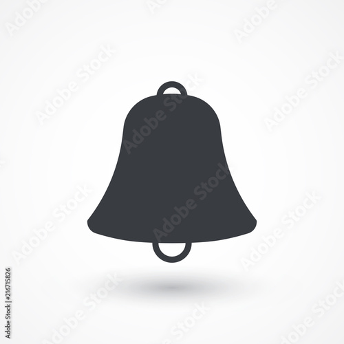 Bell sign vector icon  Sound sign  Alarm hand bell symbol