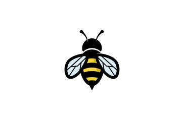 Creative Geometric Bee Logo Design Illustration