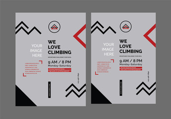 Poster Layout Set with Geometric Elements