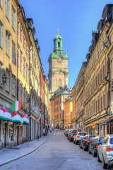 Narrow streets of Stockholm old town (Gamla Stan), Sweden