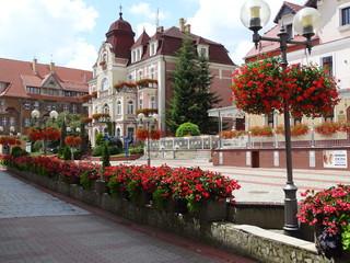Obraz  Szczawno-Zdrój , budynek Urzędu Miejskiego - fototapety do salonu