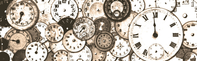 Grungy Antique Watch Faces Banner