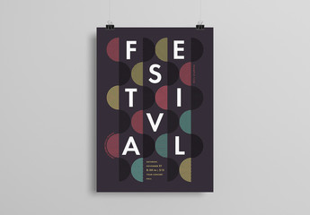 Poster Layout with Circular Patterns