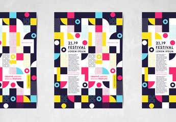 Poster Layout with Geometric Shapes