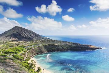 Paradise beach blue water Hawaii