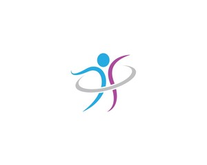 Human health symbol illustration design