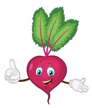 cute beet character cartoon