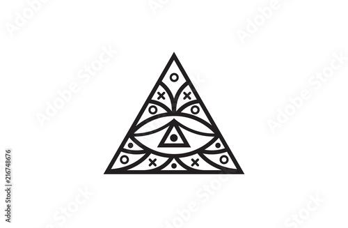 Triangle Eye Illuminati Symbol Eye In A Pyramid Vector