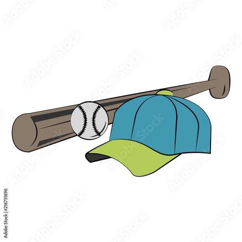 baseball bat hat and ball vector illustration graphic design stock rh en fotolia com Baseball Seams Vector Baseball Glove Vector