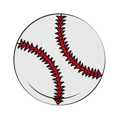 Baseball ball isolated vector illustration graphic design