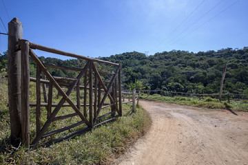 Farm gate with a different design