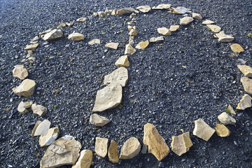 Rock Graffiti Peace Sign Graphic Symbol Canadian Rockies