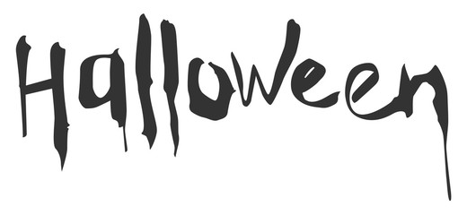 Halloween hand writing calligraphy text greeting card