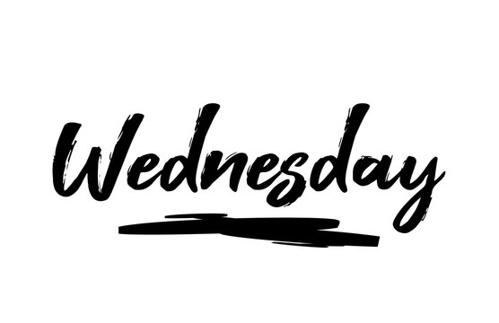 Wednesday Black Lettering Day of the Week Calendar
