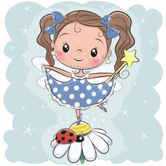 Cute fairy on the flower
