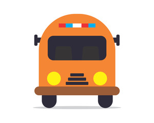 yellow bus school image vector icon logo