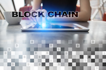 Blockchain technology concept. Internet money transfer. Cryptocurrency.