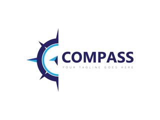 compass logo, icon, symbol design template
