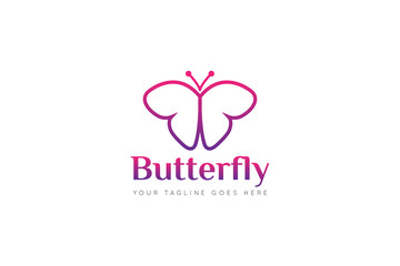 butterfly logo and icon Vector design Template. Vector Illustrator Eps.10
