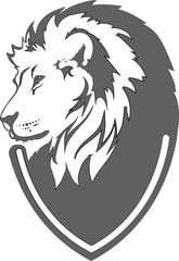 Fototapete - Lion head in vector interpretation 17