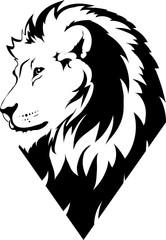 Fototapete - Lion head in vector interpretation 18