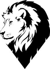 Fototapete - Lion head in vector interpretation 19